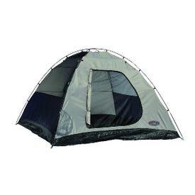 Texsport 01108 Sport Dome Tent, 10 ft L, 10 ft W, 5 Person, 1 -Door, Taffeta, Gray/Navy Blue/Red/Storm