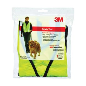 3M TEKK Protection 94601-80030T Safety Vest, One-Size, Fabric, Fluorescent Yellow