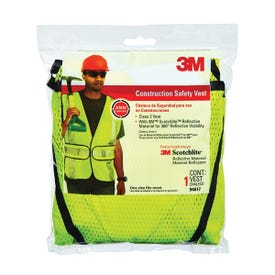 3M TEKK Protection 94617-80030T Safety Vest, One-Size, Fabric, Fluorescent Yellow