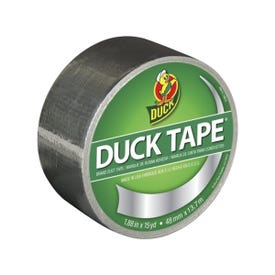 Duck 1303158 Duct Tape, 15 yd L, 1.88 in W, Vinyl Backing, Chrome