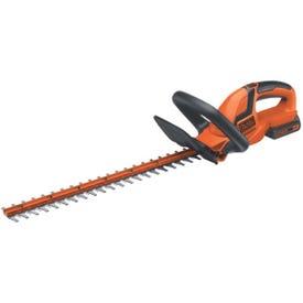 Black+Decker LHT2220 Hedge Trimmer, 20 V, 3/4 in Cutting Capacity, 22 in L x 2-1/2 in W Blade, Soft-Grip Handle