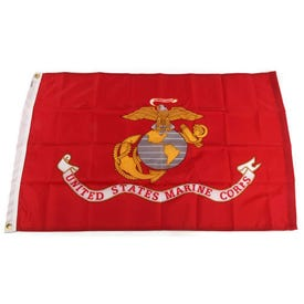 FlagZone 7942011 Marine Corps Flag, Nylon, 3 ft L, 2 ft W