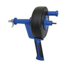 COBRA TOOLS 86250 Power Drum Auger, Manual, Power Drill, 1/4 in Dia Cable, 25 ft L Cable