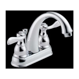 DELTA Windemere 25996LF-ECO Bathroom Faucet, 2-Faucet Handle, 5-7/8 in H Spout, Chrome