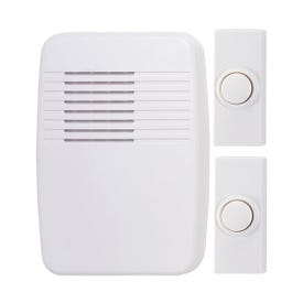 Heath Zenith SL-7367-02 Doorbell Kit, Ding, Ding-Dong, Westminster Tone, 75 dB, White