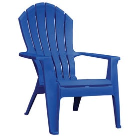 Adams RealComfort 8371-36-3700-DISC Adirondack Chair, 30 in W, 32-1/2 in D, 37-1/2 in H, Polypropylene Seat