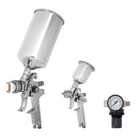 Performance Tool M503 Spray Gun Kit, 1/4 in Nozzle, 7 to 9 cfm Air, 0 to 80 psi Air