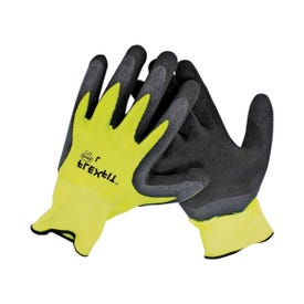 BOSS GUARDIAN ANGEL 8412M Breathable, High-Visibility Gloves, Men's, M, Knit Wrist Cuff, Latex Coating, Polyester Glove