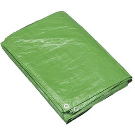 Foremost 10068 Reversible Tarp, 6 ft L, 8 ft W, 7 mil Thick, Polyethylene, Brown/Green