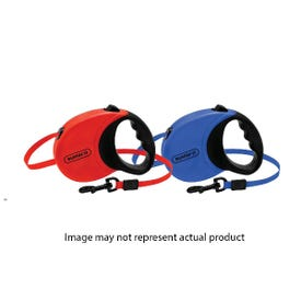 RUFFIN'IT 98617 Retractable Leash, 16 ft L, Blue/Red, M Breed