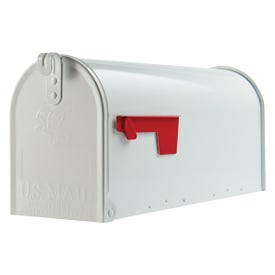 Gibraltar Mailboxes Elite E1100W00 Mailbox, 800 cu-in Capacity, Galvanized Steel, Powder-Coated, 6.9 in W, 8.9 in H