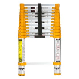 XTEND+CLIMB Home Series 770P Telescoping Ladder, 16-1/2 ft Max Reach H, 13-Step, 250 lb, 1-1/2 in D Step, Aluminum