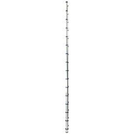 XTEND+CLIMB 785P Telescoping Ladder, 19-1/2 ft Max Reach H, 16-Step, 250 lb, 1-1/2 in D Step, Aluminum, Anodized