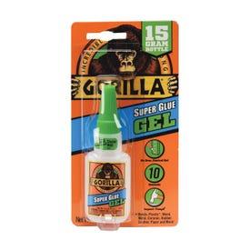 Gorilla 7600103 Super Glue, Liquid, Irritating, Straw/White Water, 15 g Bottle