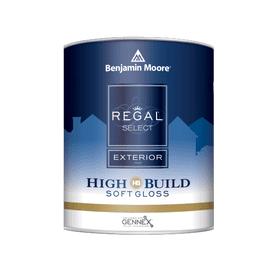 Benjamin Moore® Regal® Select Exterior High Build Paint Soft Gloss White RM Quart