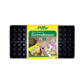 Jiffy T72H Seed Starter, 11 in L Tray, 22 in W Tray, Plastic