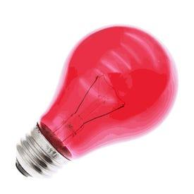 GE A19 E26 (Medium) Party Bulb Red 1 pk