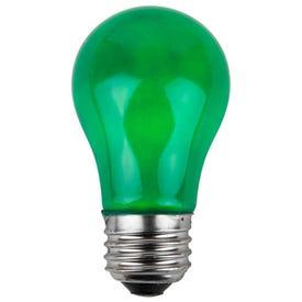 GE 16553 Party Light Bulb, A19 Bulb, 25 W, Green Bulb, Incandescent Bulb