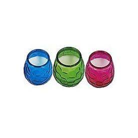Patio Essential 22249 Citronella Candle, Tear Drop, Blue/Green/Pink, 18 hr Burn Time, 10.58 oz Jar