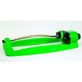 RUGG® Oscillating Sprinkler Lime Green 15 Nozzle Bow Full and Part Spray Pattern