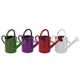 Panacea 84835 Watering Can, 1 gal Can, Metal, Assorted