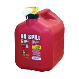 No-Spill 1450 Gas Can, 5 gal Capacity, Plastic, Red
