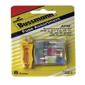 Bussmann Mini Fuses Assortment 8 Pk