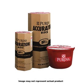 Purina Accuration 3002460-634 Supplement Feed, Block, Beef Flavor, 200 lb Plastic Tub