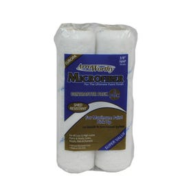 Arroworthy 9MFR3-4PK Roller Cover Pack, 3/8 in Thick Nap, 9 in L, Microfiber Cover