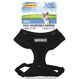 RUFFIN'IT 41462 Fully Adjustable Harness, 10 to 12-1/2 in x 13 to 18 in, Mesh Fabric Harness, Assorted