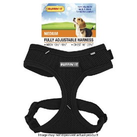 RUFFIN'IT 41463 Fully Adjustable Harness, 13-1/2 to 16-1/2 in x 16 to 22-1/2, Mesh Fabric Harness, Assorted