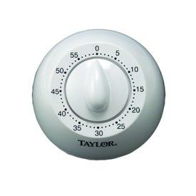 Taylor 5832 Mechanical Timer, 60 min, White