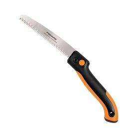 FISKARS 390680-1001 Pruning Saw, Steel Blade, 7 TPI, Resin Handle, Soft-Grip Handle, 21-1/2 in OAL