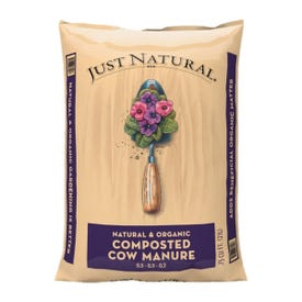 Jolly Gardener Just Natural 50050006 Composted Cow Manure, 0.75 cu-ft Bag