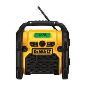 DeWALT DCR018 Worksite Radio, Bare Tool, 12, 18, 20 V Battery, 3, 1.5 Ah, Battery Included: No