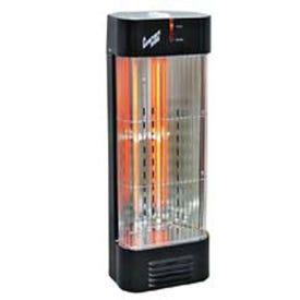 Comfort Zone CZQTV007BK Electric Tower Quartz Dual Heater, 12.5 A, 120 V, 750, 1500 W, 5120 Btu/hr BTU, Black