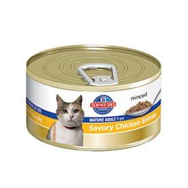 Science Diet 4541 Mature Cat Food, Savory Chicken Flavor, 5.5 oz Can