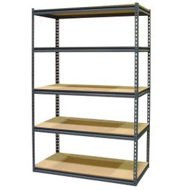Storage Concepts SCB2505W Boltless Shelving Unit, 4000 lb Capacity, 5-Shelf, 48 in OAW, 24 in OAD, 72 in OAH