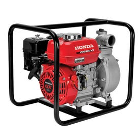Honda WB20XT3A Water Pump, 2 in Outlet, 105 ft Max Head, 164 gpm, Four-Vane Cast Iron Impeller, Aluminum