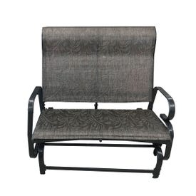 Direct Imports 12461 Lotus Double Glider, 34-1/2 in W, 42-1/2 in D, 40-1/2 in H, 450 lb Seating, Sling-Tex Seat