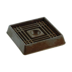 Shepherd Hardware 9074 Caster Cup, Rubber, Brown