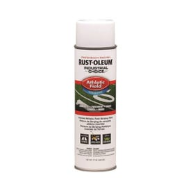 RUST-OLEUM INDUSTRIAL CHOICE 206043 Athletic Field Striping Paint, White, 17 oz, Aerosol Can