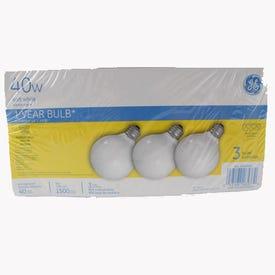 GE 44742 Light Bulb, 40 W, G25 Lamp, E26 Medium Lamp Base, 370 Lumens, 2600 K Color Temp, Soft White Light