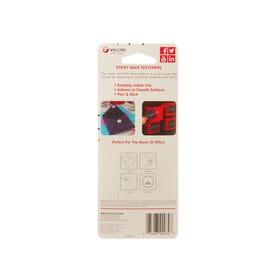 VELCRO Brand 90072 Fastener, 7/8 in W, 7/8 in L, Nylon, Black, Rubber Adhesive
