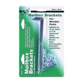 Gibraltar Mailboxes MB100000 Mounting Bracket, Galvanized Steel, 5-3/4 in L x 1 in W Dimensions