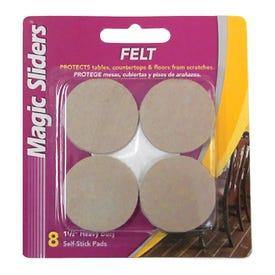 Magic Sliders Felt Self Stick Pads 1 1/2