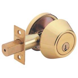 Tell Manufacturing RL100207 Deadbolt, 3 Grade, Keyed Key, Steel, Bright Brass, 2-3/8, 2-3/4 in Backset