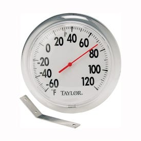 Taylor 5630 Thermometer, 6 in Display,-60 to 120 deg F, Metal Casing, Multi-Color Casing