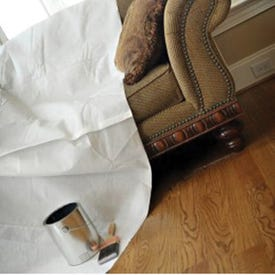 Trimaco SUPERTUFF 02301 Drop Cloth, 12 ft L, 9 ft W, Paper, White