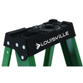 Louisville FS4004 Step Ladder, 102 in Max Reach H, 3-Step, 225 lb, Type II Duty Rating, 3 in D Step, Fiberglass